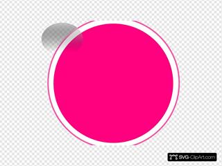 Glossy Pink Circle Button