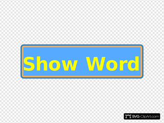 Show Word Button
