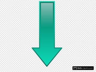 Arrow-down-seagreen