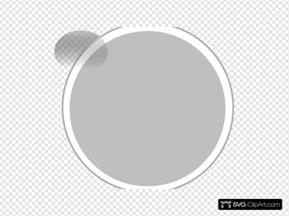 Glossy Gray Circle Button