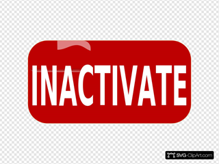 Red Inactivate Rectangle Button
