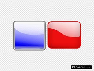 Glossy Buttons SVG Clipart