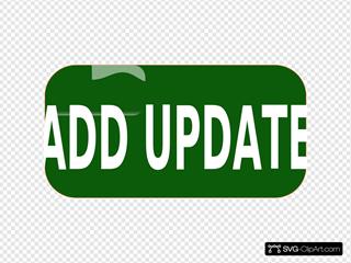 Dark Green Add Update Rectangle Button