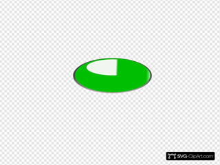 Green Oval Button SVG Clipart