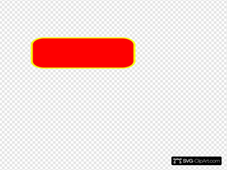 Red Rectangle Rounded, Yellow Border