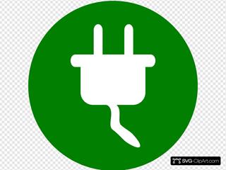 Green Electricity Symbol