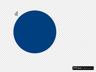 Button Round Blue