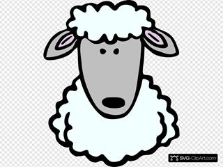 Cartoon Sheep Head