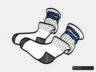Athletic Crew Socks SVG Clipart