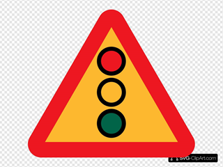 Traffic Lights Ahead Sign