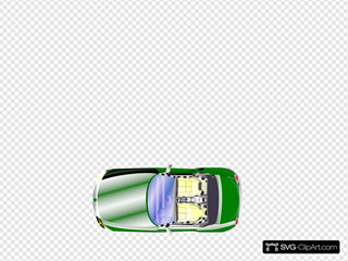Green Car Top View