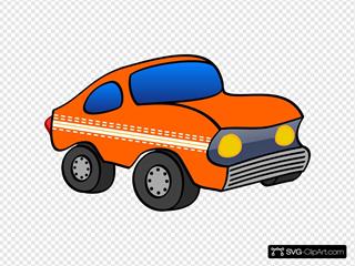 Orange Cartoon Car