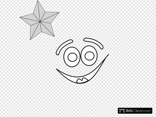 Smiling Star Outline