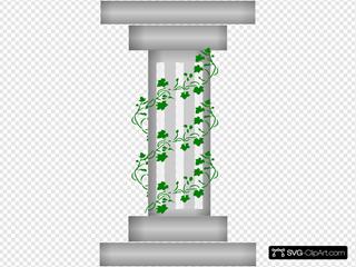 Pillar With Plant Vines