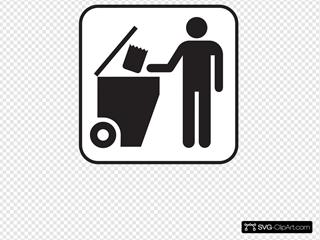 Trash Dumpster White