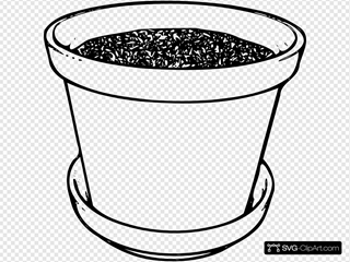 Flowerpot With Soil