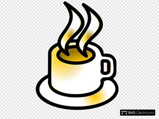 Coffee Cup Gold Theme