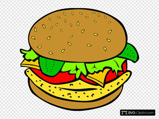 Fast Food Lunch Dinner Ff Menu Clipart