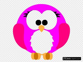 Pink Robin Cartoon