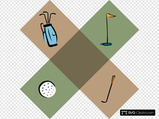 Golf Symbols SVG Clipart