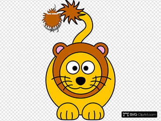 Cartoon Golden Lion
