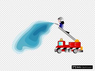Firetruck And Fireman