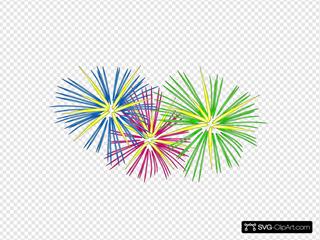 Three Colour Fireworks