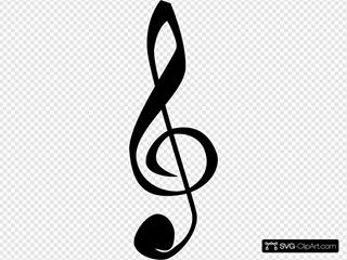 Treble Clefs Music Symbol
