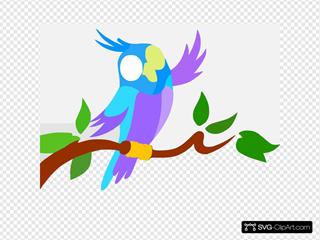 Cute Cartoon Parrot Full