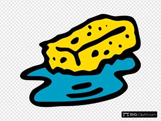 Sponge In Water