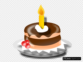 Birthday Cake And Candle