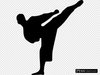 Karate Kick Silhouette