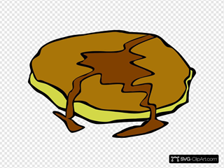 Pancake With Syrup SVG Clipart