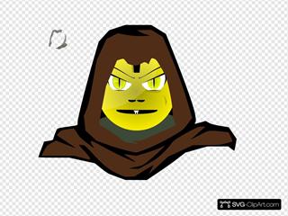 Hooded Cartoon Character