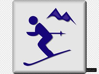 Hotel Icon Ski Area SVG Clipart