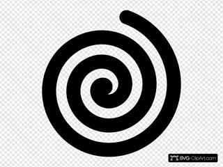 Black Bold Spiral Clipart