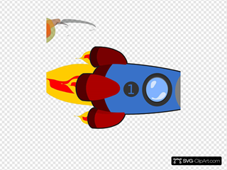 Rocketship SVG Cliparts