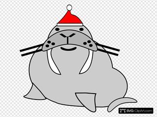 Seal Wearing Santa\