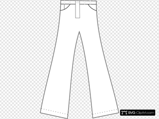 Clothing Pants Outline