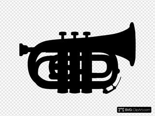 Pocket Trumpet Silhouette