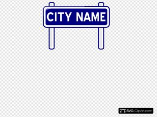 City Nameplate