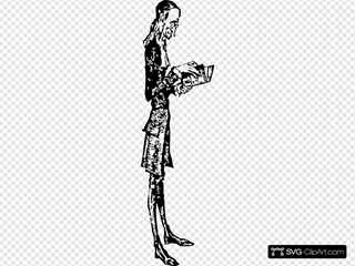 Skinny Man Reading