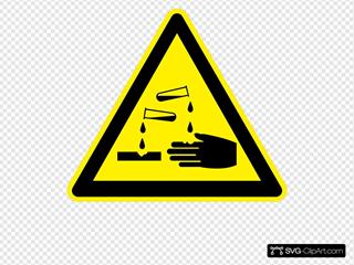 Sign Corrosive
