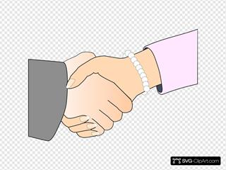 Handshake Freshwater Pearl Bracelet