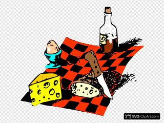 Family picnic. Bbq party. Food and barbeque Clipart Image