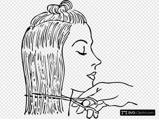 Cutting Woman S Hair