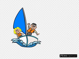 Kids In Sailboat
