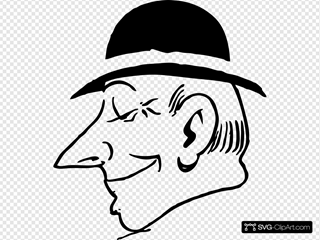 Man With Hat Clipart