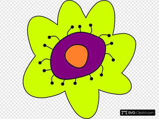 Cartoon Flower SVG Clipart
