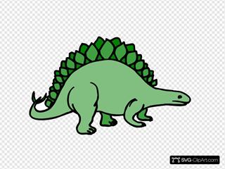Simple Stegosaurus Art
